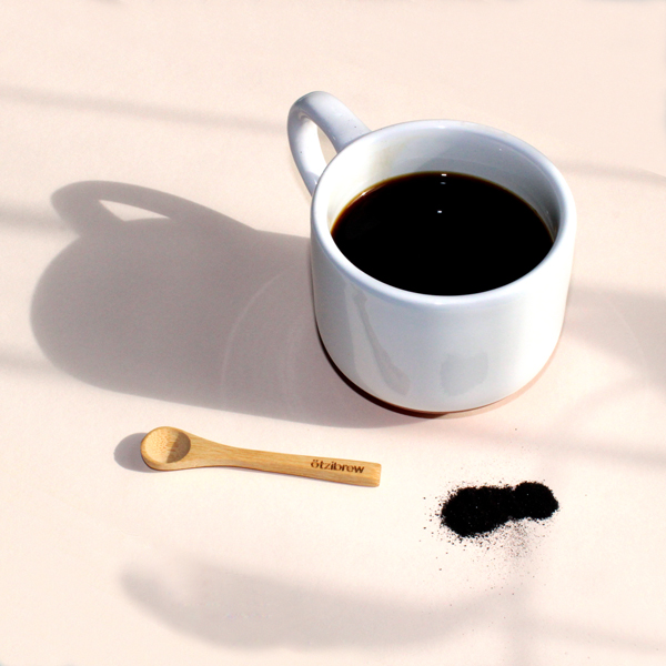 Ötzibrew Chaga in Mug with Spoon